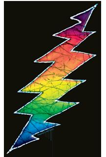 5.25 X 4.625 Dye the Sky Grateful Dead Psycle Sam Window Sticker//Decal