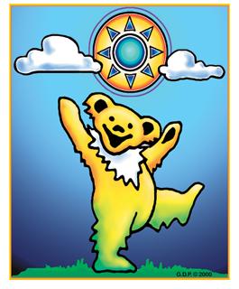 Grateful Dead- Sunny Bear Sticker